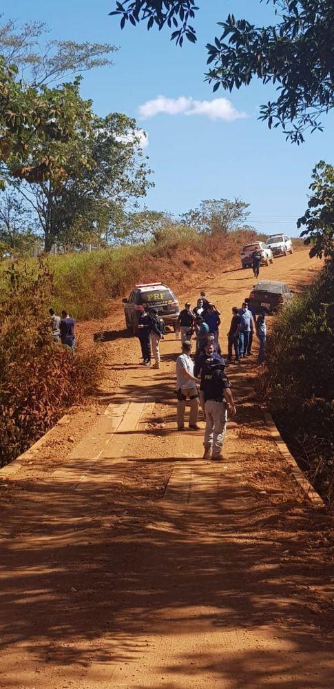 Local onde os corpos das vítimas foram enterrados, no Cone Sul - Foto: PRF/Divulgação