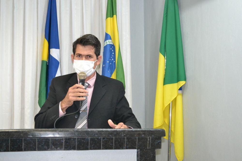 """Presidente da Câmara, vereador Claudinei Fernandes (PSL), """"Claudinho da Cascalheira"""""""