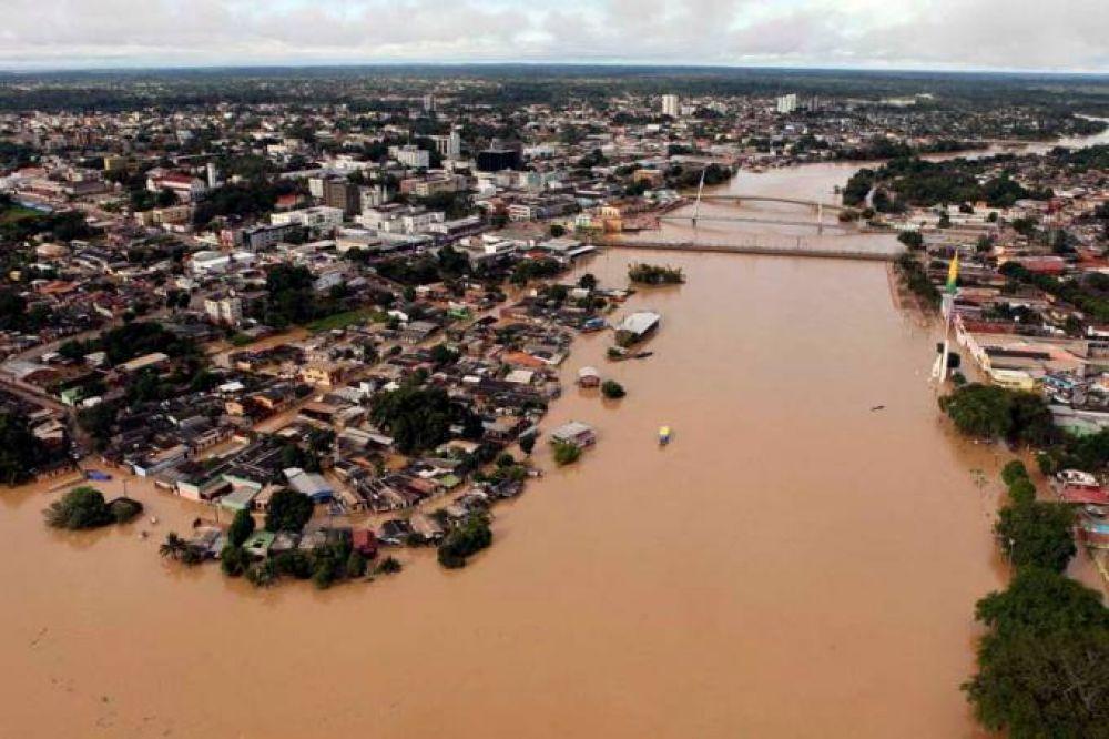 Cheia do rio Acre, em Rio Branco Reuters/VEJA