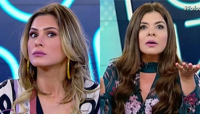 Lívia Andrade e Mara Maravilha no Fofocalizando (Foto: Reprodução/SBT)