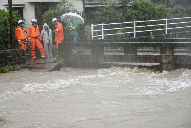 Chuvas e ventos fortes podem atingir o Japão nas próximas horas (Kyodo / via Reuters /Direitos reservados)