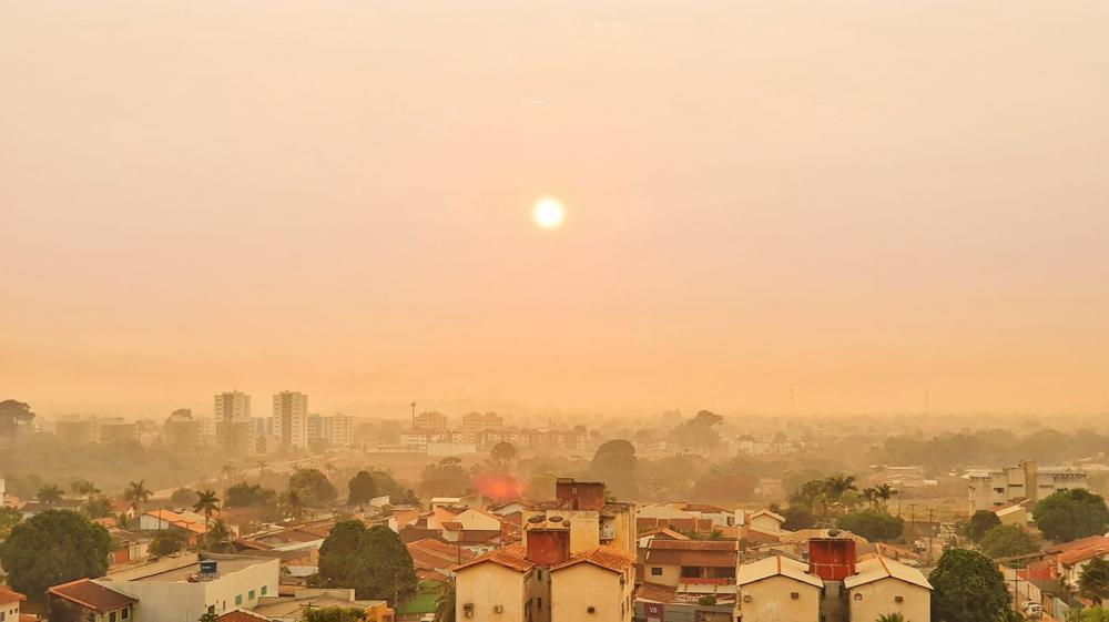 Cidade de Porto Velho sob intensa fumaça de queimadas - Foto: Renata Silva/Arquivo Pessoal
