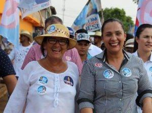 Linda, como era conhecida, ao lado da deputada Rosangela Donadon/Foto: Divulgação