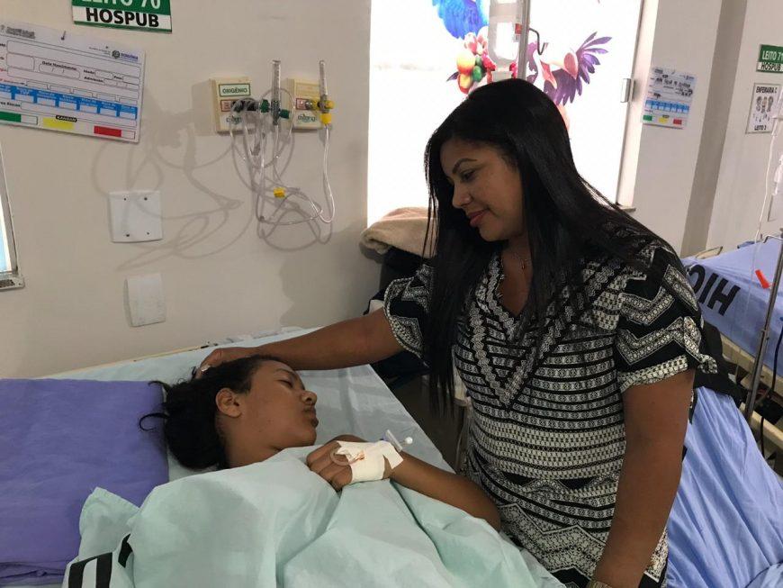 Maria Clara de Lima de 11 anos é um caso incomum de cálculo na vesícula em criança. Fotos: Dislene Queiroz Secom - Governo de Rondônia