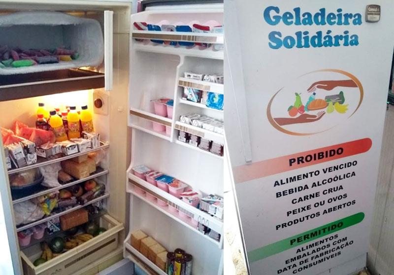 Geladeira Solidária de Varadouro - Fotos: divulgação