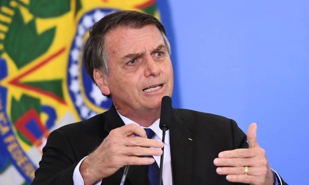 Presidente Jair Bolsonaro durante cerimônia no Palácio do Planalto. Reuters/Adriano Machado