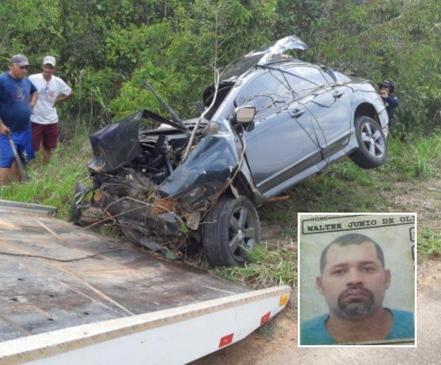 Homem perde a vida após capotamento na BR-319