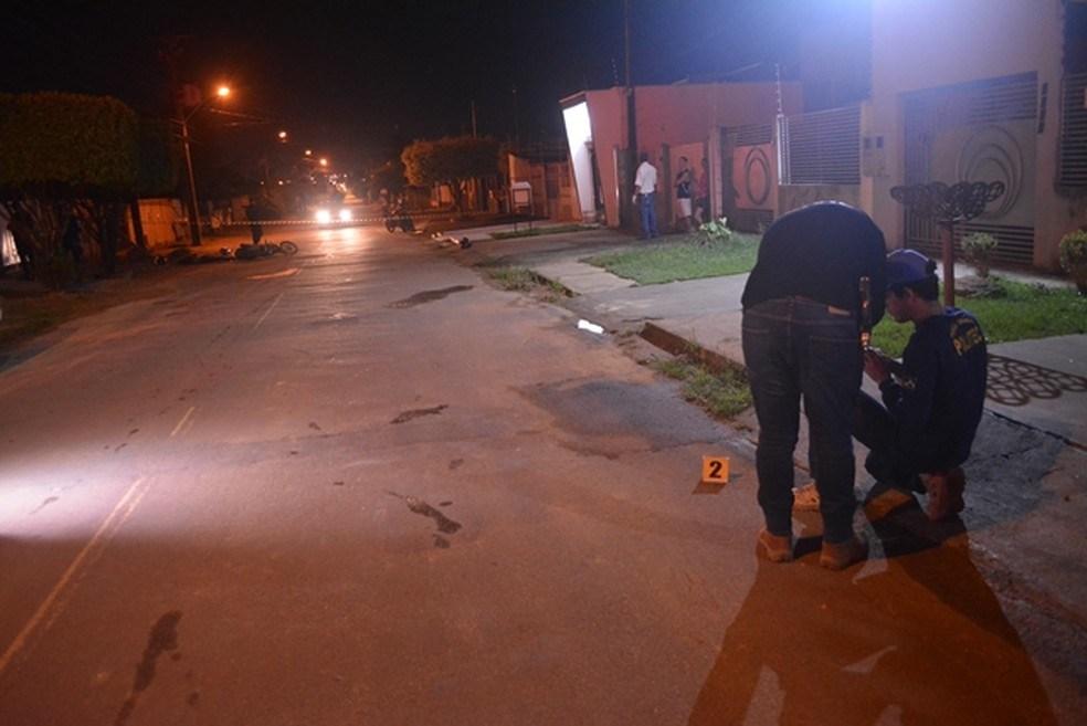 Perícia encontrou cápsula perto do local do ataque em Ariquemes - Foto: Jeferson Sanches/ 190 Urgente