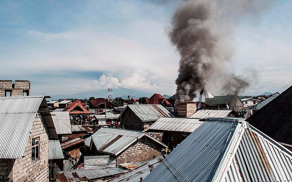 Aeronave estava com 19 pessoas (Foto: Pamela Tulizo/ AFP)