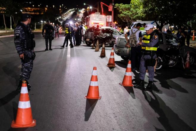 A Operação Vida no Trânsito foi realizada em parceria das forças de segurança estaduais, Semob, PRF e a Universidade Federal de Goiás.