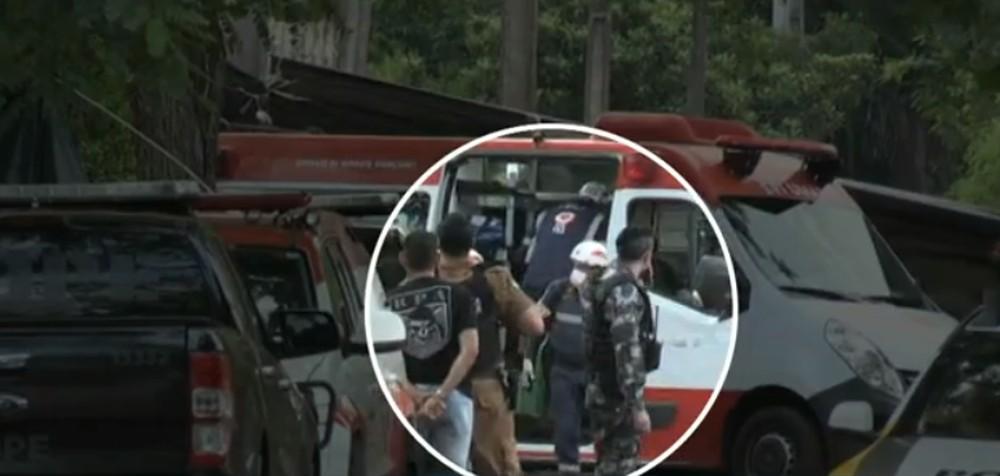 Policiais faziam negociações com o homem desde o início da tarde de segunda-feira (2) - Foto: Reprodução/RPC