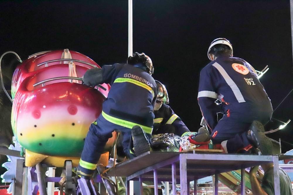 Vítima foi socorrida pelos bombeiros e Samu - Foto: Divulgação/Prefeitura de Paranaguá