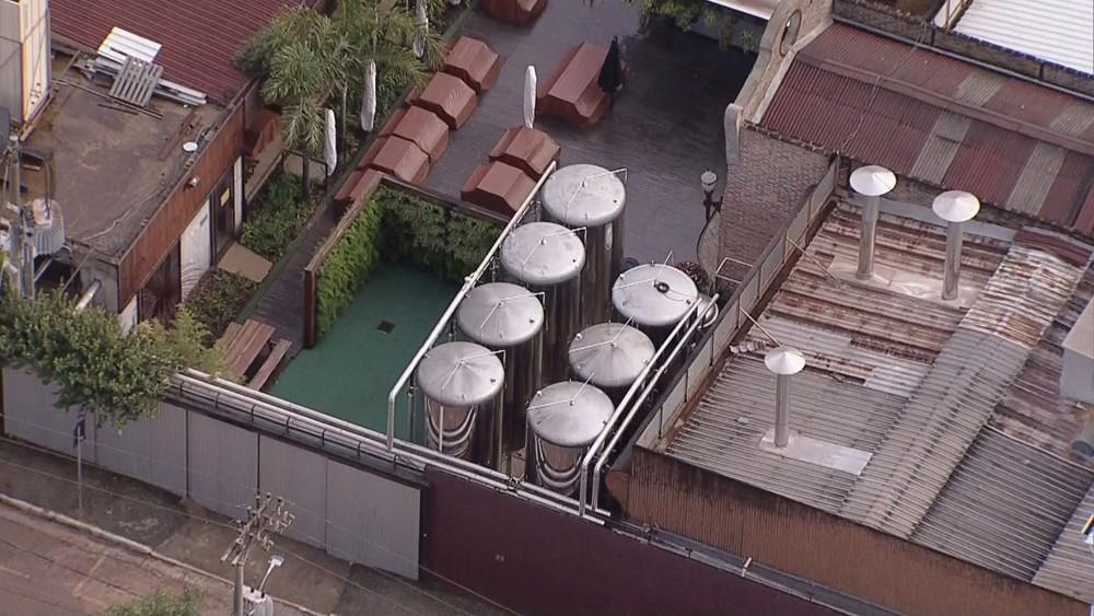Vista aérea da fábrica da Backer, em BH - Foto: Globocop