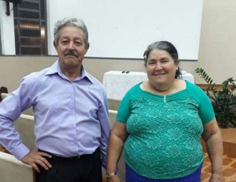O casal - Eugênio de Oliveira e a sua esposa Maria. Foto: Arquivo Pessoal