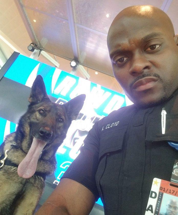 Policial tira selfies com seu cão e mostra para o animal aprovar – ou não