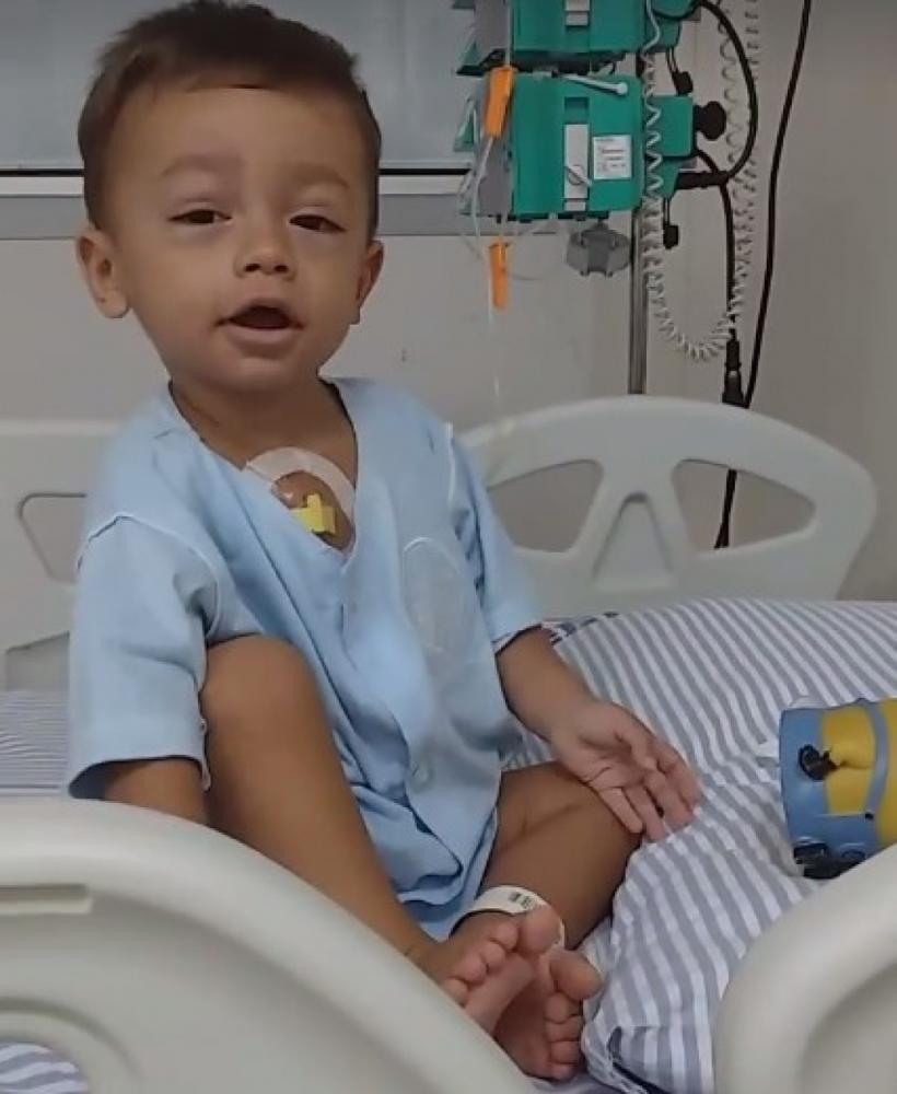 Com apenas 1,7 anos garotinho que foi diagnosticado com leucemia e precisa da sua ajuda