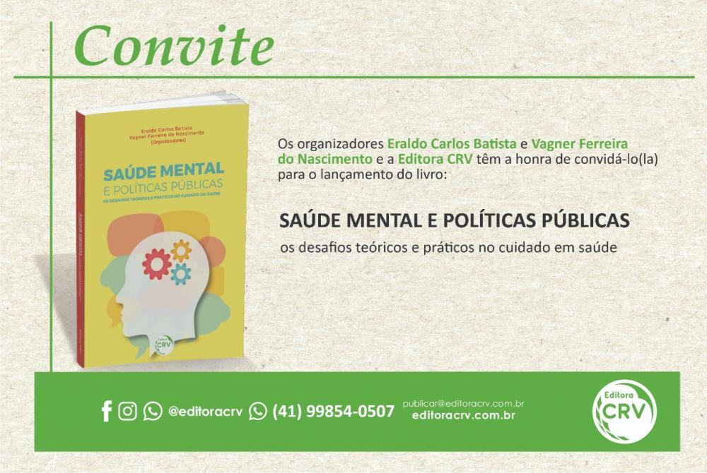 Inicia no próximo dia 01/06 uma serie de Lives sobre a Saúde Mental e Políticas Publicas