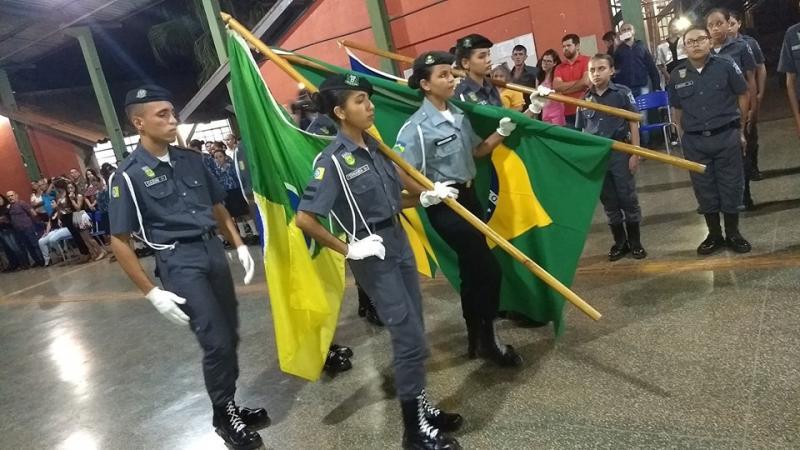 Polícia Mirim realiza evento de formatura dos novos Policiais Mirins em Rolim de Moura!!!