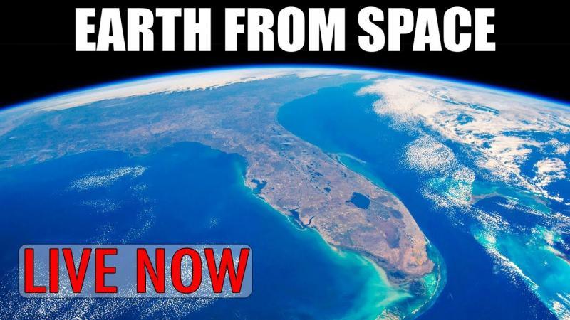 Ao Vivo: Nasa faz Transmissão em tempo real da Terra, feita do Espaço.