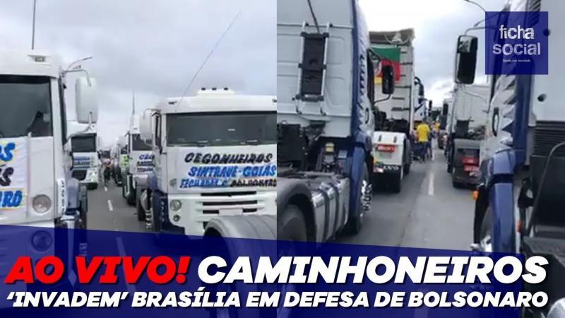 """Ao Vivo! Caminhoneiros """"invadem"""" Brasília em defesa de Bolsonaro - Manifestação e Carreata"""