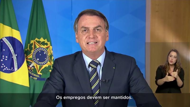 Pronunciamento do presidente da República, Bolsonaro (24/03)